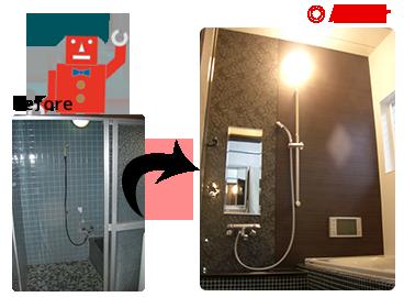 リノベーション浴室
